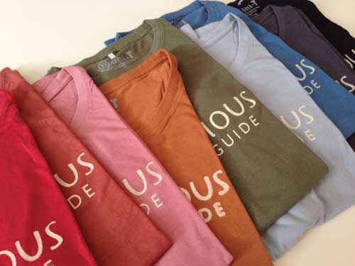 Shirts in an array of colors